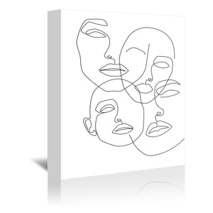 Messy Faces by Explicit Design Wrapped Canvas