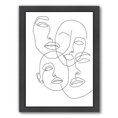Messy Faces by Explicit Design Framed Print - Wall Art - Americanflat