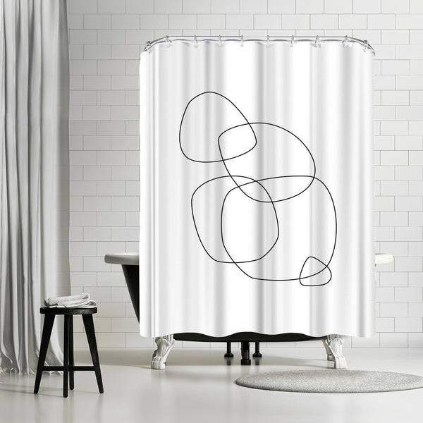 Minimalist by Explicit Design Shower Curtain