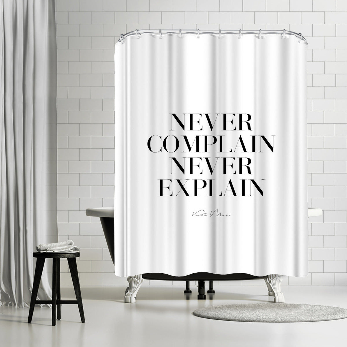 Never Never by Explicit Design Shower Curtain - Shower Curtain - Americanflat