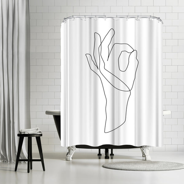 Ok by Explicit Design Shower Curtain
