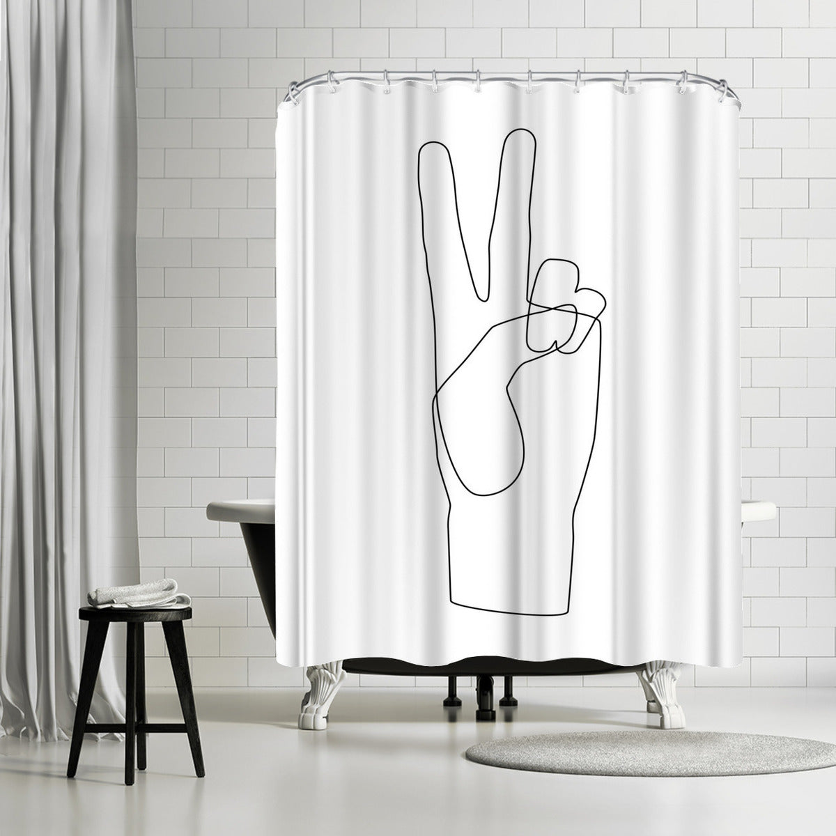 Peace by Explicit Design Shower Curtain - Shower Curtain - Americanflat