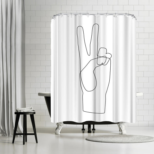 Peace by Explicit Design Shower Curtain