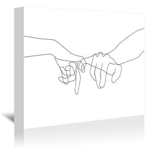 Pinky Swear by Explicit Design Wrapped Canvas