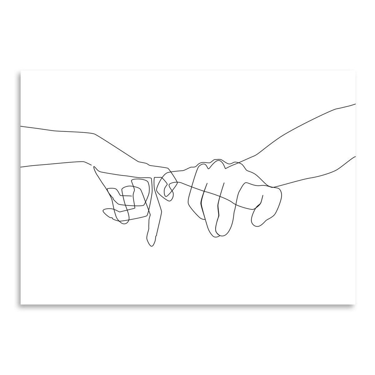 Pinky Swear by Explicit Design Art Print