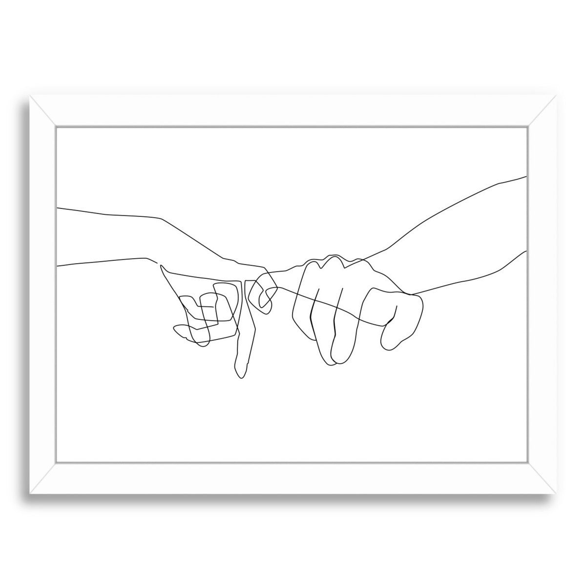 Pinky Swear by Explicit Design Framed Print - Americanflat