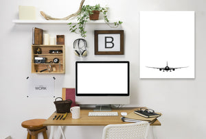 Plane Silhouette by Explicit Design Wrapped Canvas