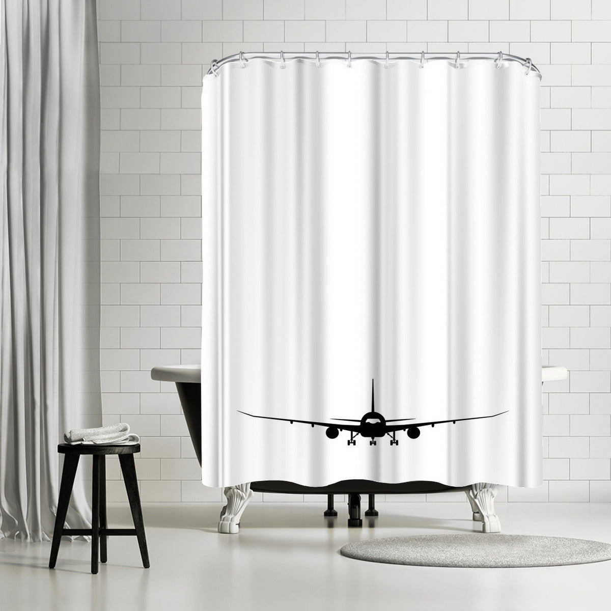 Plane Silhouette by Explicit Design Shower Curtain - Shower Curtain - Americanflat