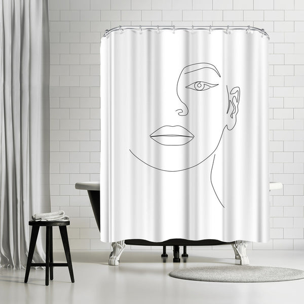 Queen B by Explicit Design Shower Curtain
