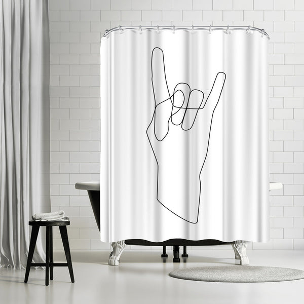 Rock by Explicit Design Shower Curtain