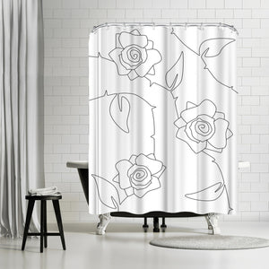 Rose Bush by Explicit Design Shower Curtain
