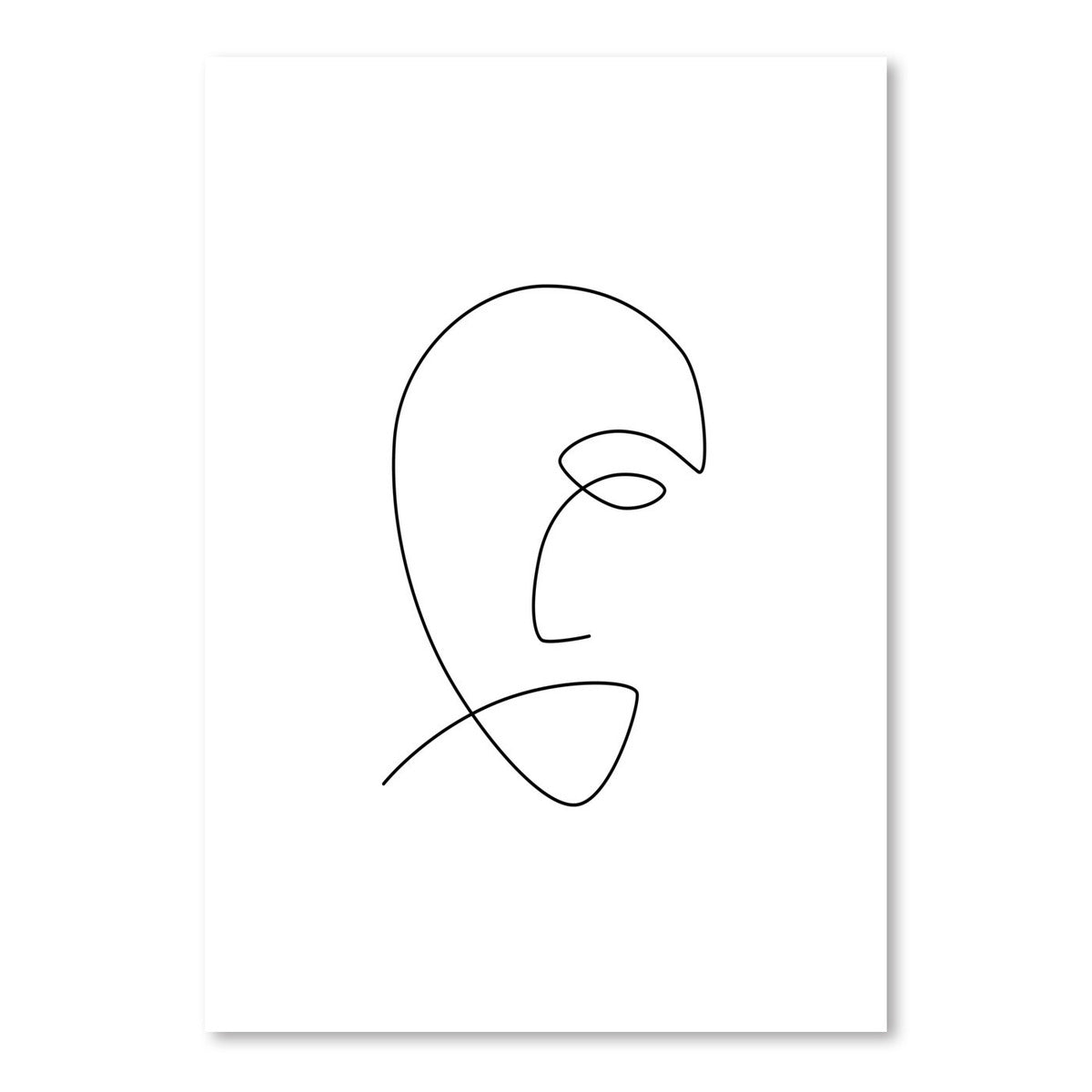 Sad Line by Explicit Design Art Print - Art Print - Americanflat