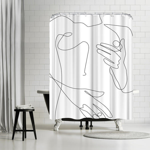 Sensual Erotic by Explicit Design Shower Curtain