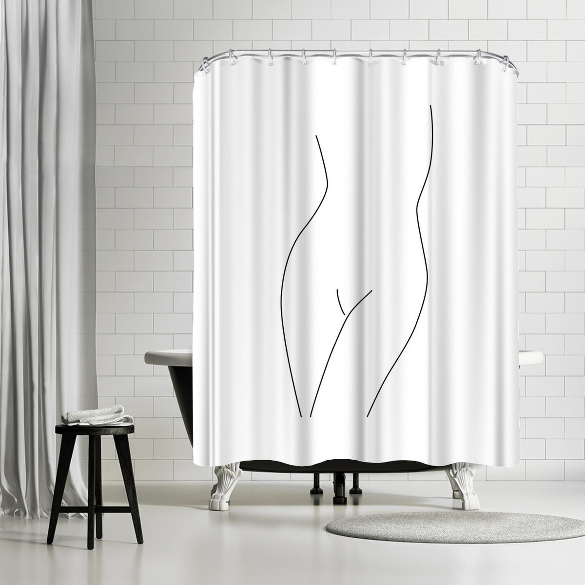 Simple Nude by Explicit Design Shower Curtain - Shower Curtain - Americanflat