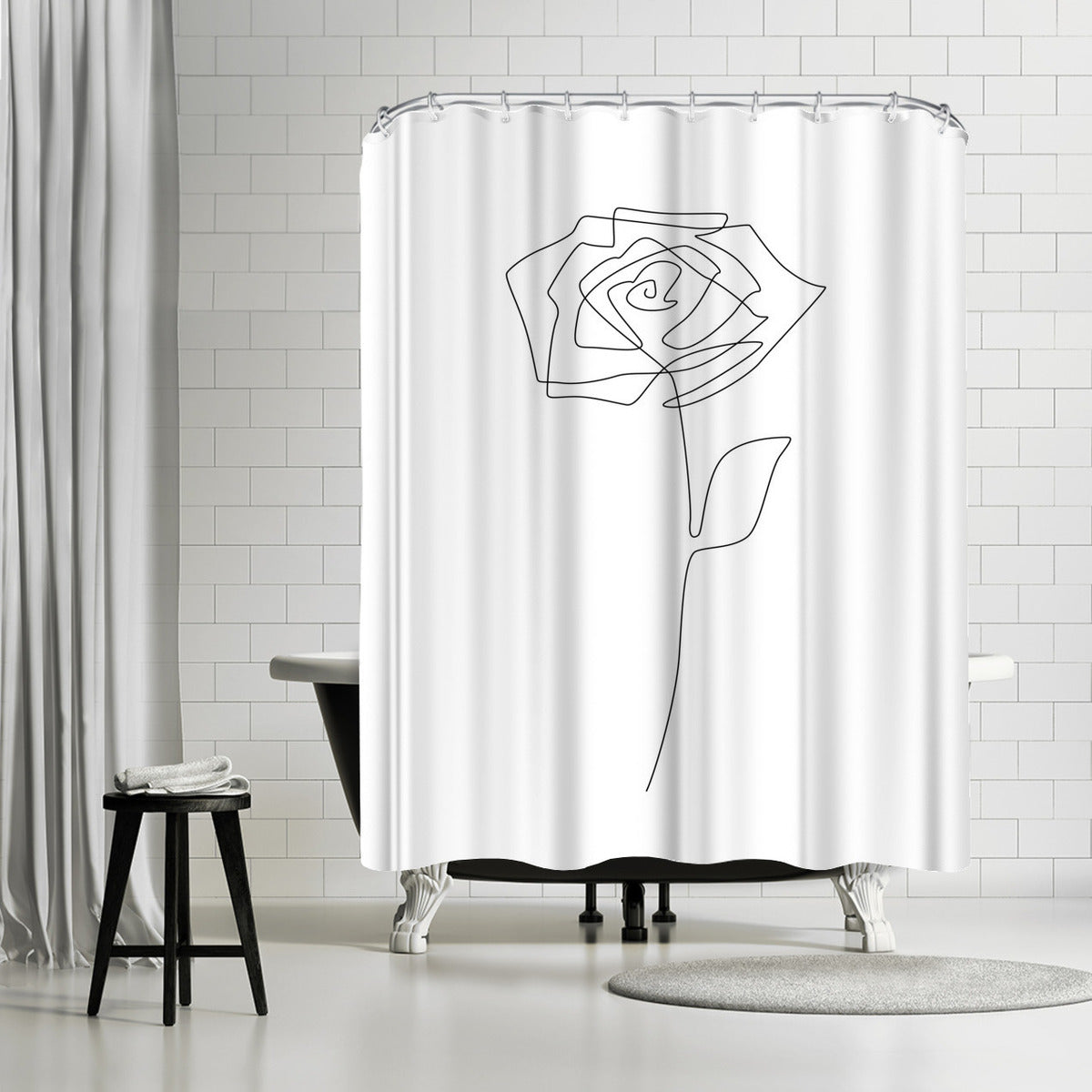Single Rose by Explicit Design Shower Curtain -  - Americanflat