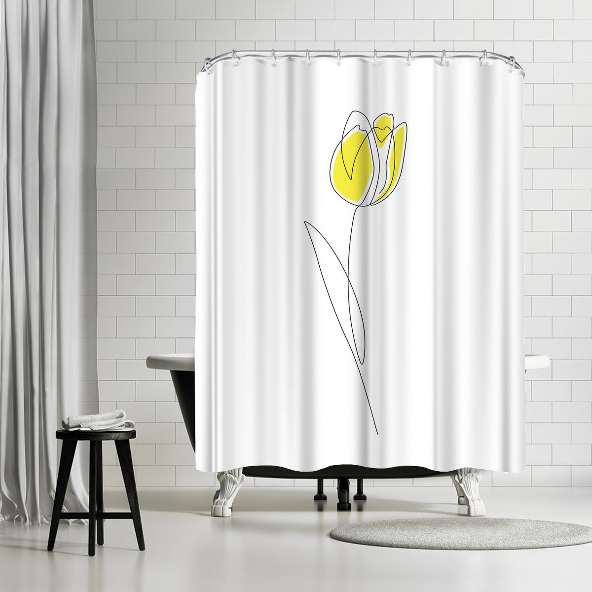 Spring Tulips by Explicit Design Shower Curtain - Shower Curtain - Americanflat