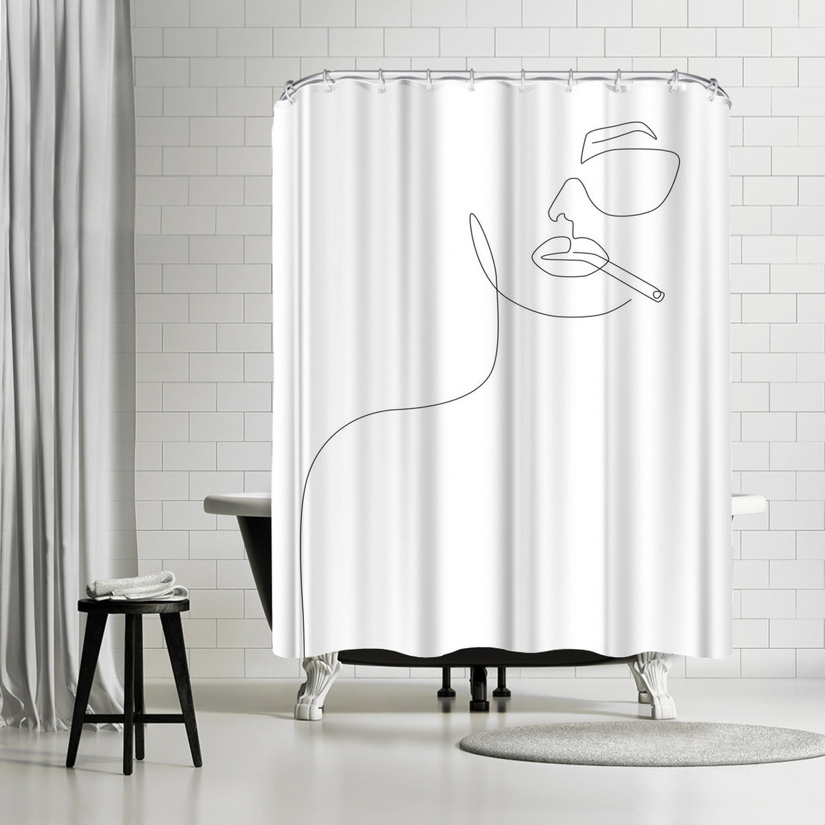 Sunny Smoke by Explicit Design Shower Curtain -  - Americanflat