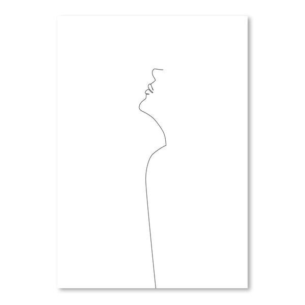 Thin Girl by Explicit Design Art Print