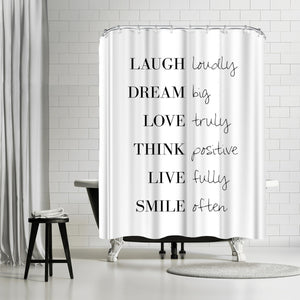 To Do List by Explicit Design Shower Curtain