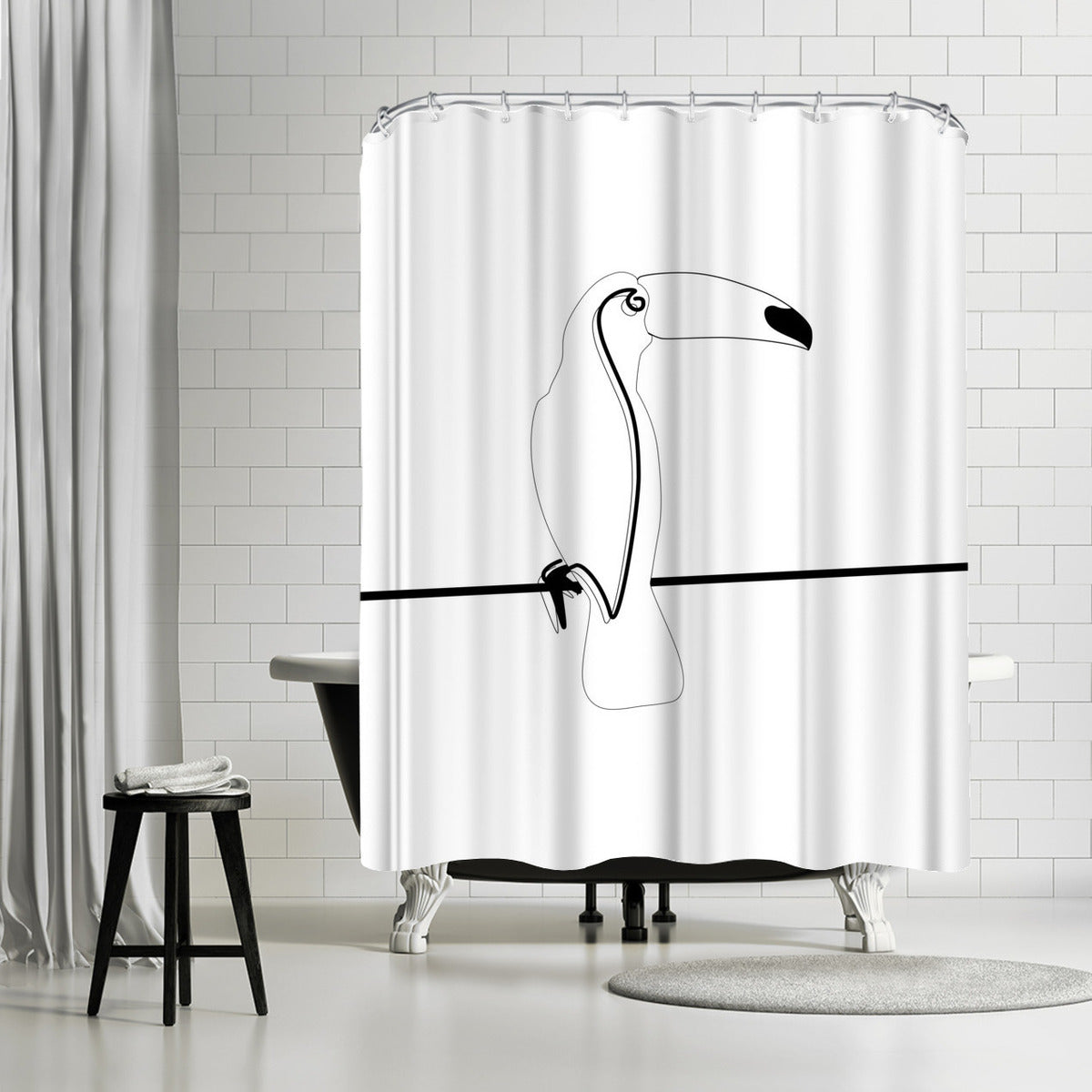 Toco Toucan by Explicit Design Shower Curtain - Shower Curtain - Americanflat