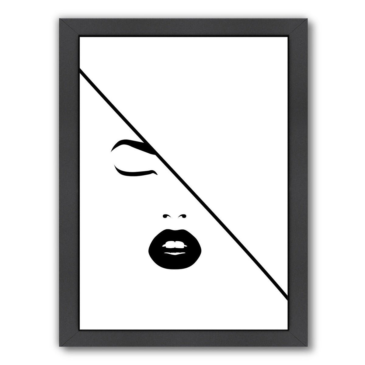 Under The Line by Explicit Design Framed Print - Wall Art - Americanflat