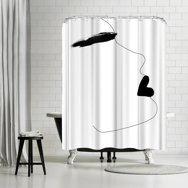 Watercolor Brow by Explicit Design Shower Curtain