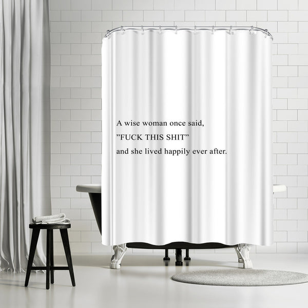 Wise Woman by Explicit Design Shower Curtain
