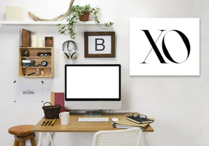 Xo by Explicit Design Wrapped Canvas
