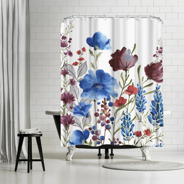 Willow Herb I by PI Creative Art Shower Curtain