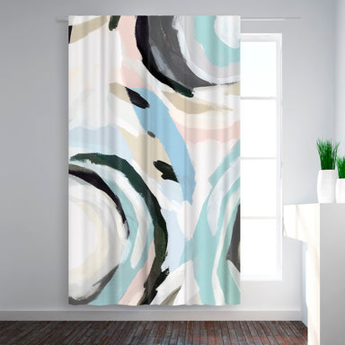 Blackout Curtain Single Panel Blue Galore I By Pi Creative Art Americanflat