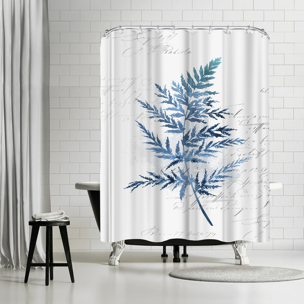 Botanical Blue I by PI Creative Art Shower Curtain