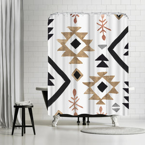 Rhythmics I by PI Creative Art Shower Curtain