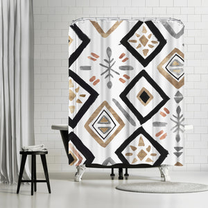 Rhythmics Ii by PI Creative Art Shower Curtain