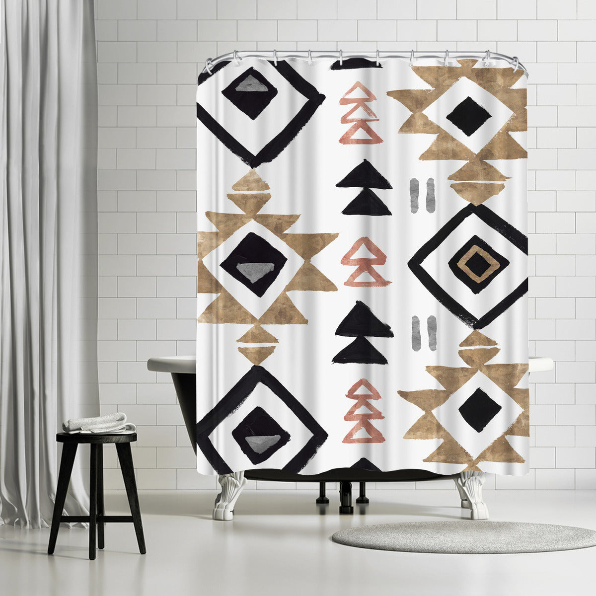 Rhythmics Iii by PI Creative Art Shower Curtain - Shower Curtain - Americanflat