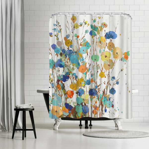Spring Garden I by PI Creative Art Shower Curtain