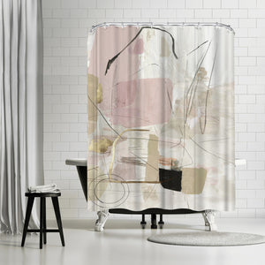 Reflection Abstract by PI Creative Art Shower Curtain