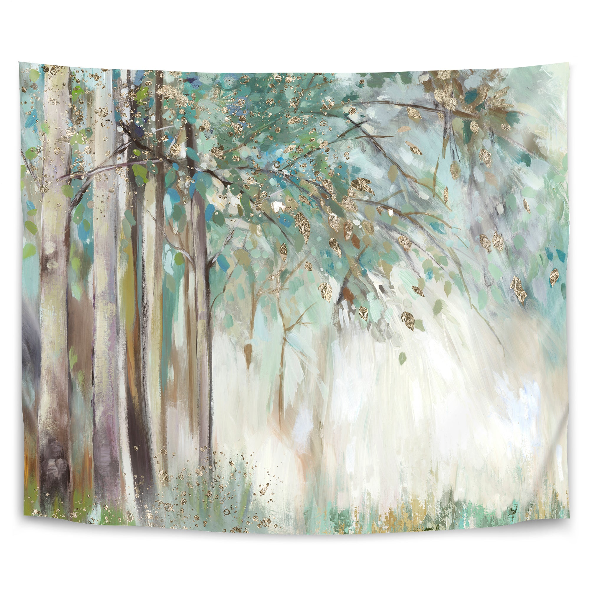 Silver Leaves by PI Creative Art Tapestry - Wall Tapestry - Americanflat