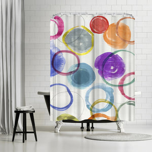 Ringlets I by PI Creative Art Shower Curtain