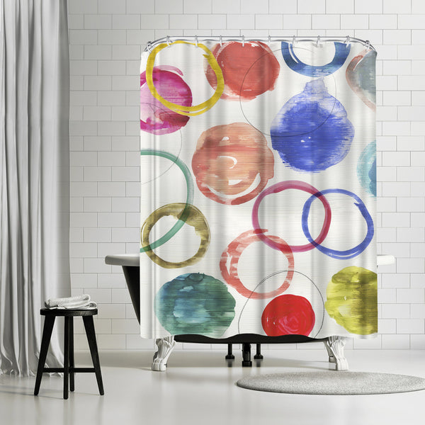 Ringlets Ii by PI Creative Art Shower Curtain