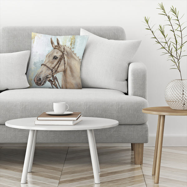 Show Horse by PI Creative Art Decorative Pillow
