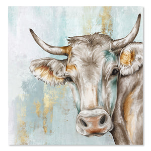 Headstrong Cow by PI Creative Art  Print