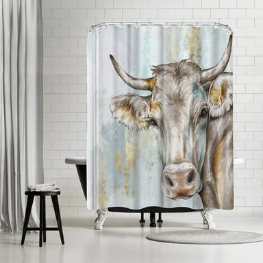 Headstrong Cow by PI Creative Art Shower Curtain -  - Americanflat