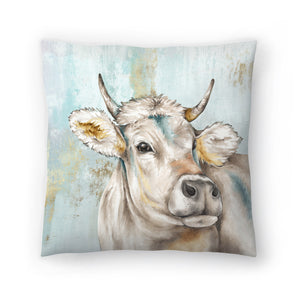 Headstrong Cow I by PI Creative Art Decorative Pillow