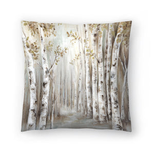Sunset Birch Forest Iii by PI Creative Art Decorative Pillow