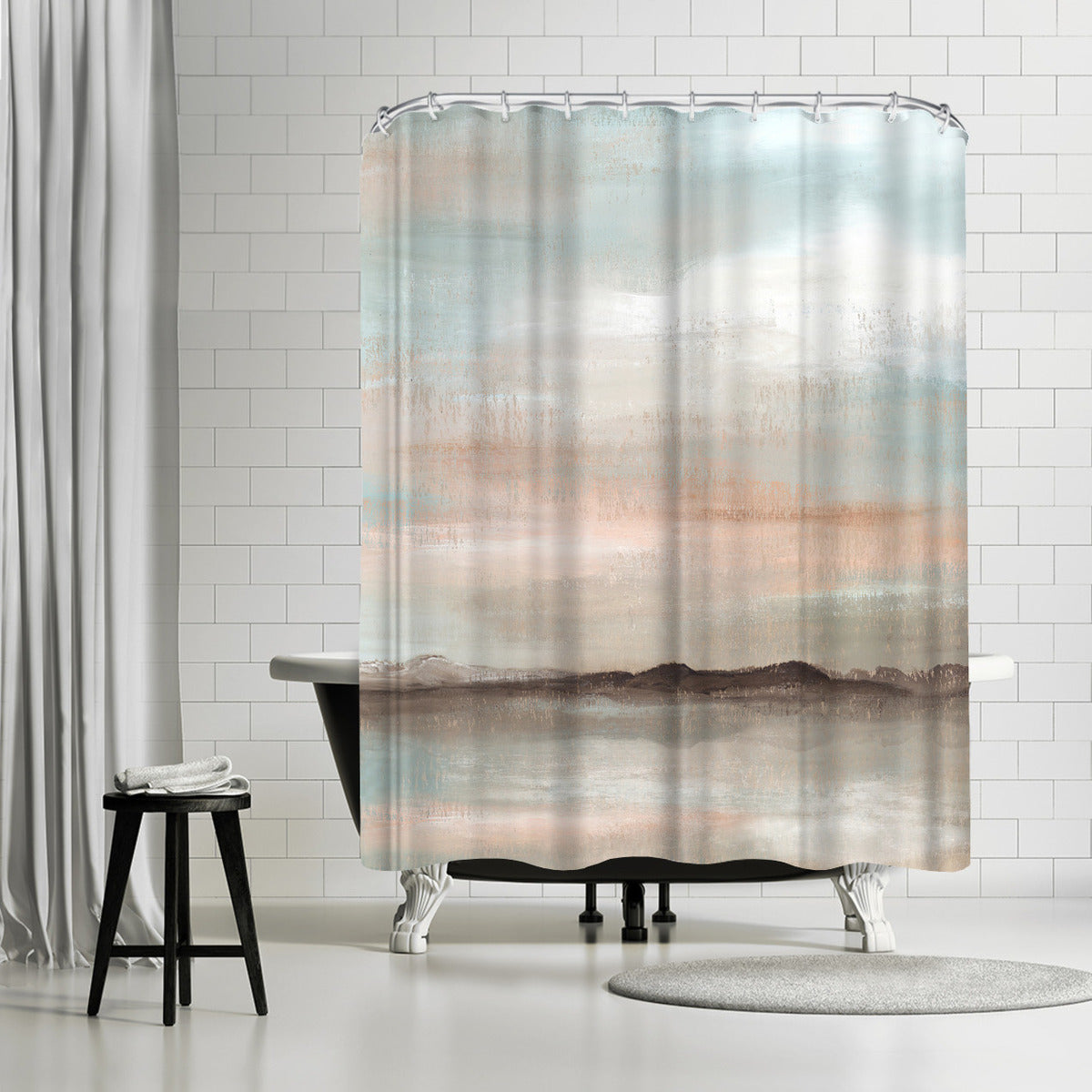 Sunset Sprawl by PI Creative Art Shower Curtain -  - Americanflat