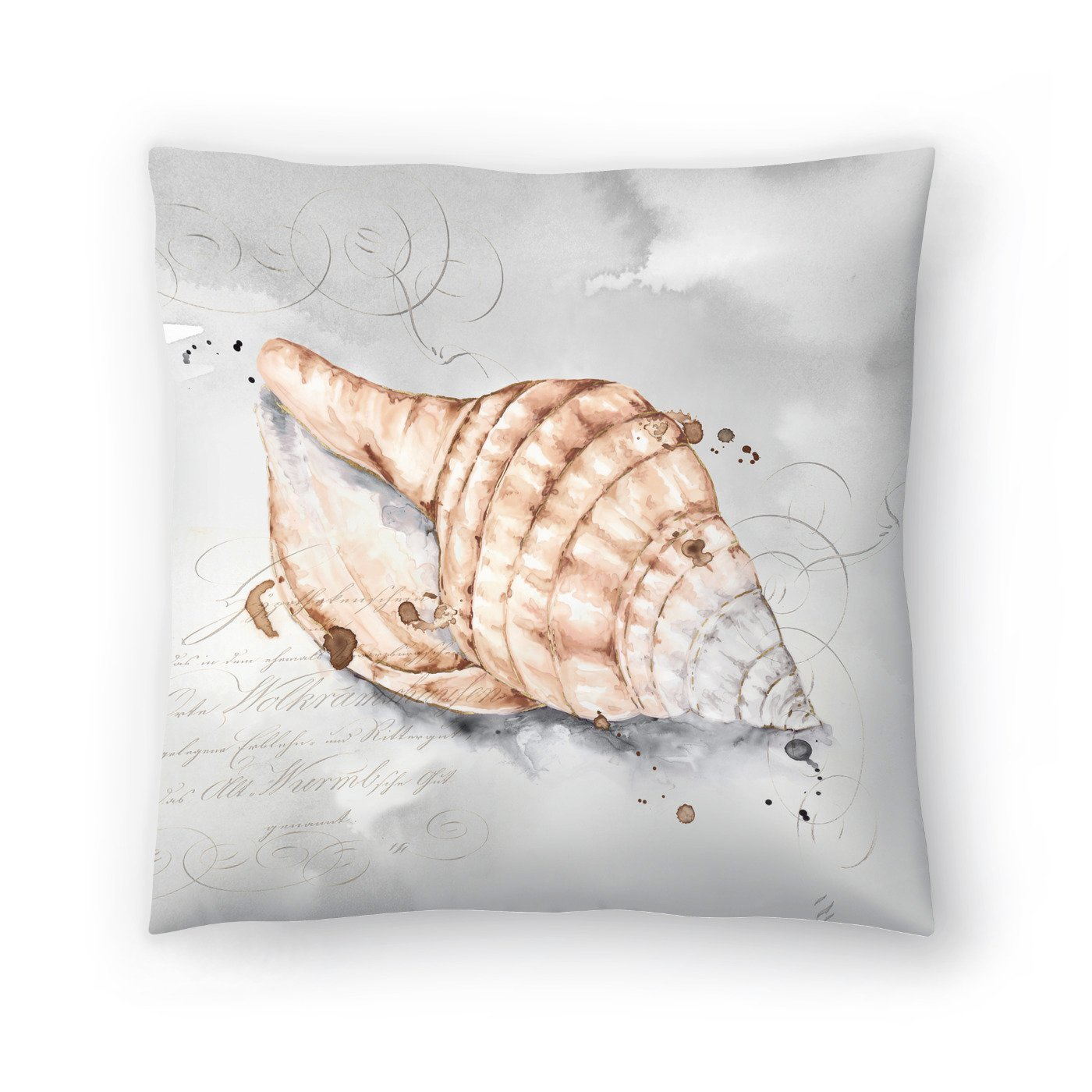 Blush Shell I by PI Creative Art Decorative Pillow - Decorative Pillow - Americanflat