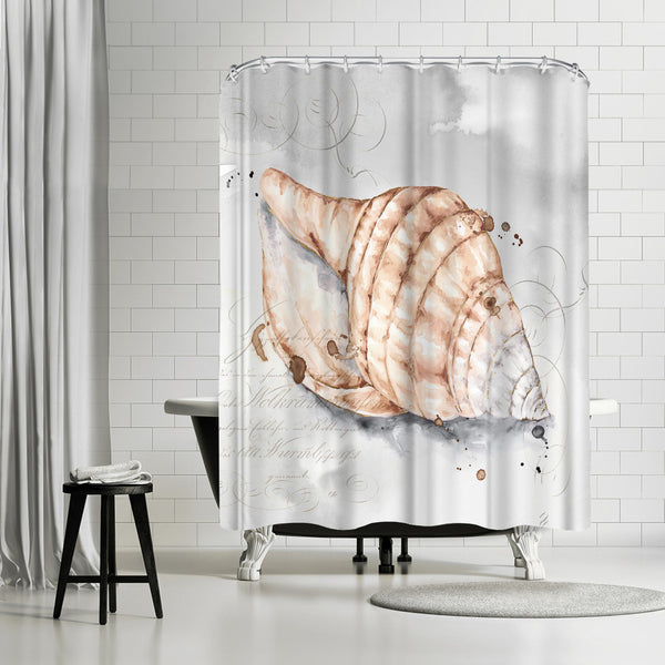 Blush Shell I by PI Creative Art Shower Curtain