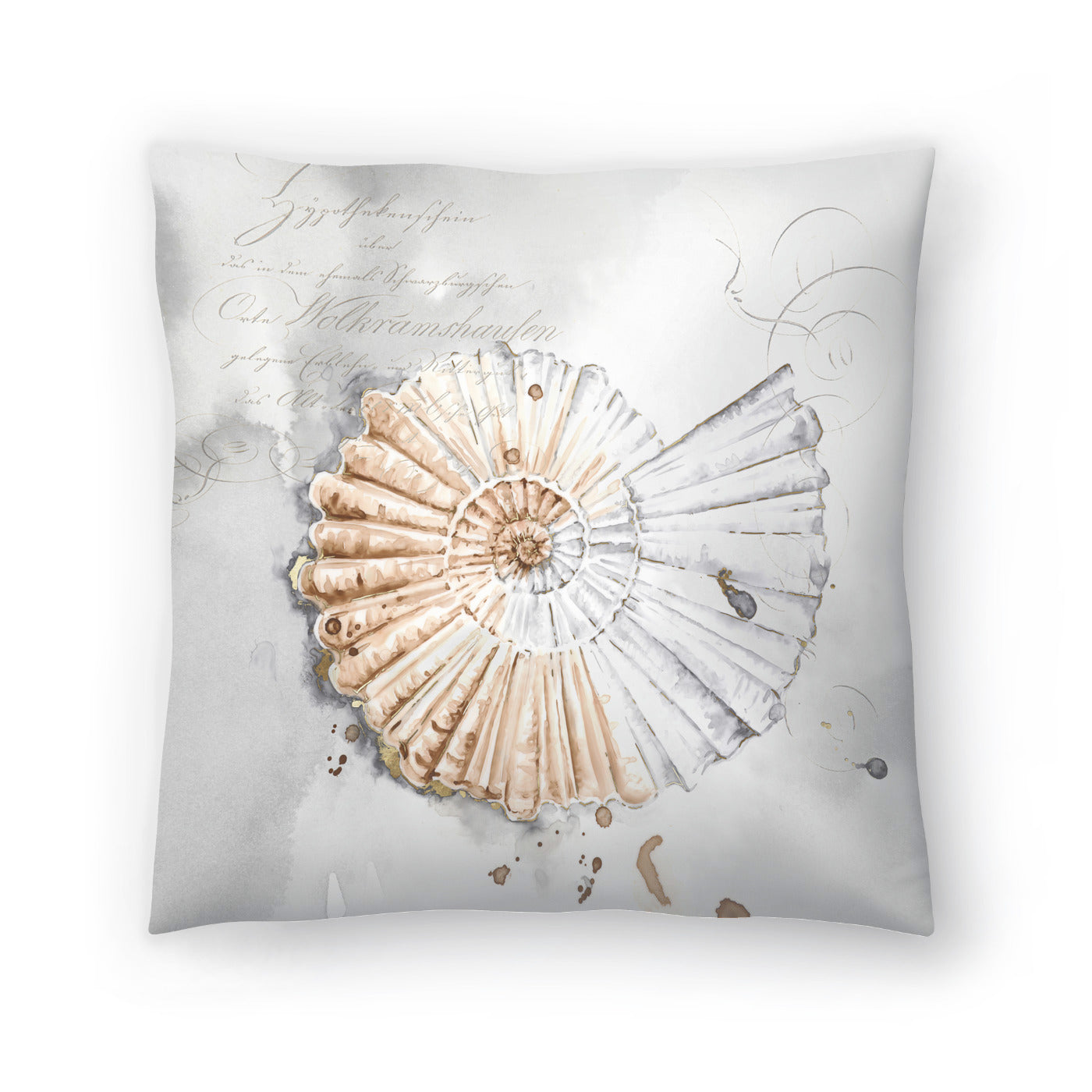 Blush Shell Ii by PI Creative Art Decorative Pillow - Decorative Pillow - Americanflat