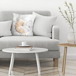 Blush Shell Ii by PI Creative Art Decorative Pillow