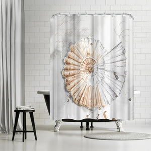 Blush Shell Ii by PI Creative Art Shower Curtain